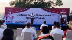 Warga NTT Deklarasi Dukung Jokowi 3 Periode
